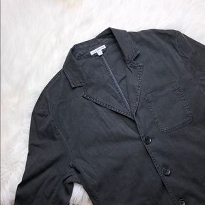 JAMES PERSE DARK WAHSED LINEN STYLE JACKET SIZE 1